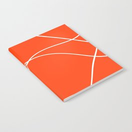 """""""Abstract lines"""" - White on orange Notebook"""