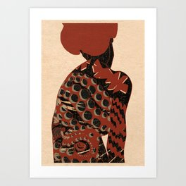 Octopus girl Art Print