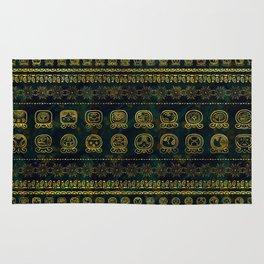 Maya Calendar Glyphs pattern Rug