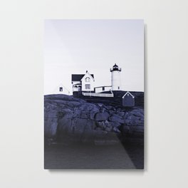 Navy Blue Lighthouse Metal Print