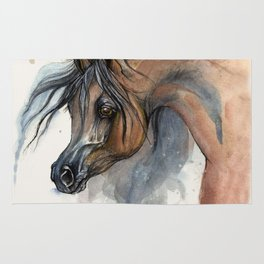 Arabian horse portrait Rug