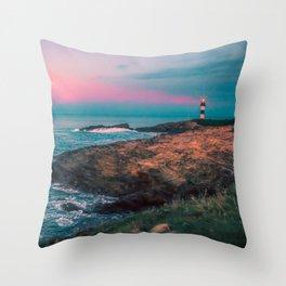 Lighthouse of the Isla Pancha Throw Pillow