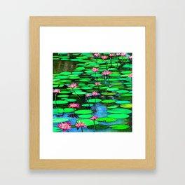 Lilies FromMonet's  Gardens Framed Art Print