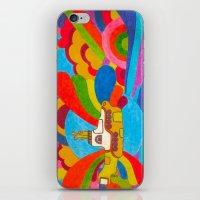 submarine iPhone & iPod Skins featuring Yellow Submarine by Jaime Viens