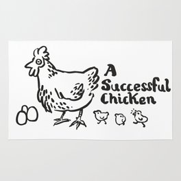 another successful chicken Rug