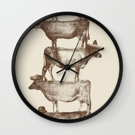 Cow Cow Nuts Wall Clock