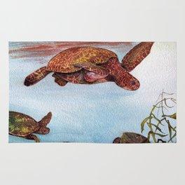Turtle Town Kauai by Maureen Donovan Rug
