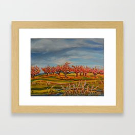 Peachtrees In Autumn Framed Art Print