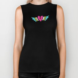 Kisses Even To The Air Are Beautiful Biker Tank