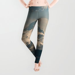 Mountain Valley Pacific Northwest - Nature Photography Leggings