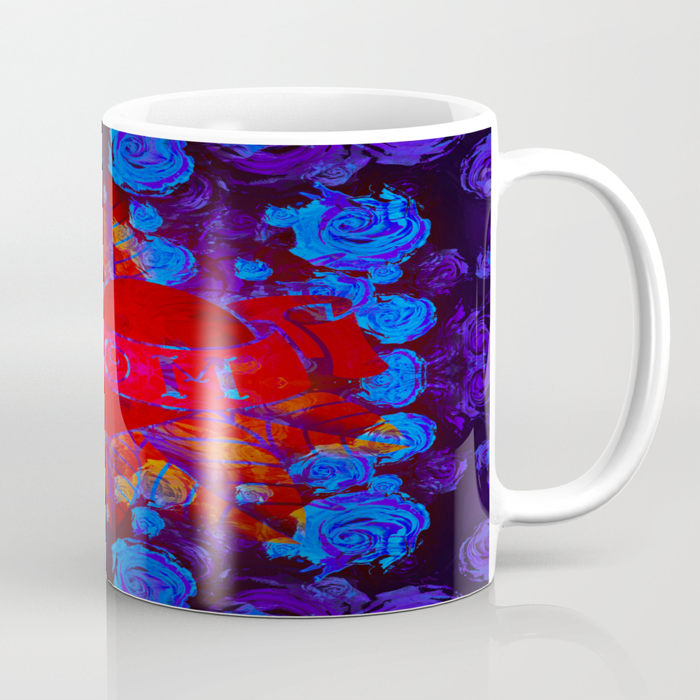 Mom Tattoo Retro Glowing Floral Print Mug by Carlieamberpartridge MUG9030684
