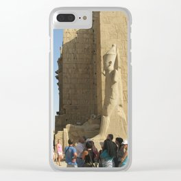 Temple of Karnak at Egypt, no. 5 Clear iPhone Case