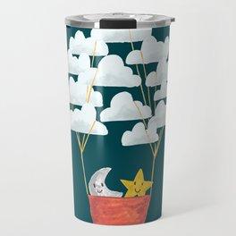 Hot cloud baloon - moon and star Travel Mug