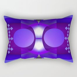 Geometric abstract in purples and grey Rectangular Pillow