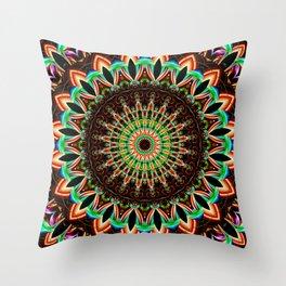 Mandala India Style 3 Throw Pillow