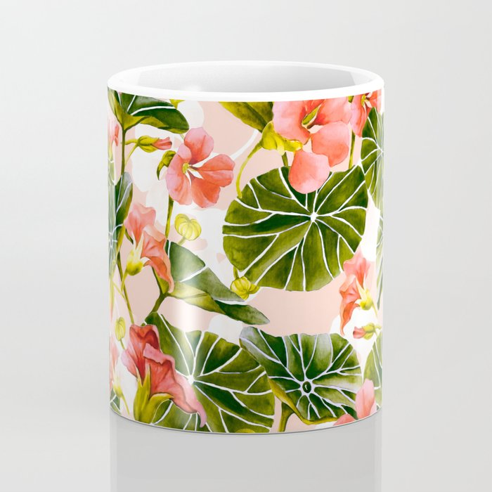 Flowering garden nasturtiums Coffee Mug