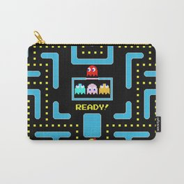 pac-man blue Carry-All Pouch