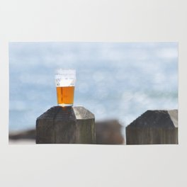 BEER DAY AT THE BEACH Rug