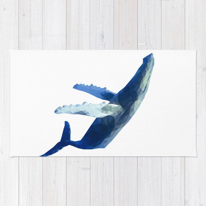 Geometric Humpback Whale Rug