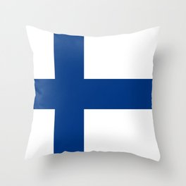 Flag of Finland - High Quality Image Throw Pillow