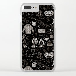 Autumn Nights: Halloween Clear iPhone Case