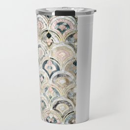 Art Deco Marble Tiles in Soft Pastels Travel Mug