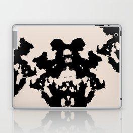 Black Rorschach inkblot Laptop & iPad Skin