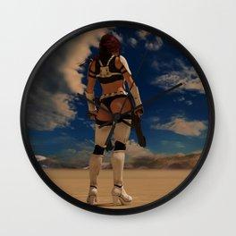 Sexy Storm Trooper - Desert - Sky - Pin up - ZG 3D Wall Clock