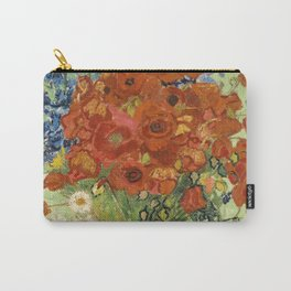 "Vincent van Gogh ""Still Life, Vase with Daisies, and Poppies"" Carry-All Pouch"
