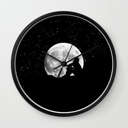 Listen To The Vinyl-Verse Wall Clock