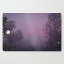 Early Morning Hazy Street Cutting Board