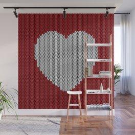 Wool Heart Wall Mural