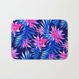 Aechmea Fasciata - Mid Blue/Pink Bath Mat