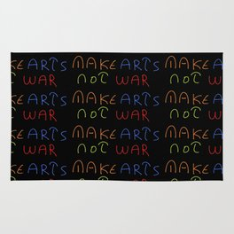 make arts not war 2-anti-war,pacifist,pacifism,art,artist,arte,paz,humanities Rug