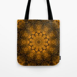Black and yellowbrown kaleidoscope Tote Bag