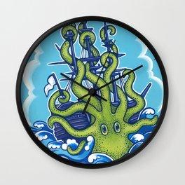 The Kraken Abides Wall Clock