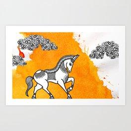 Horse Series Art Print