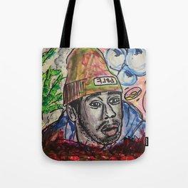Tyler,The Creator,rapper,rap,music,fan art,wall art,artwork,colourful,weed,odd future,flower boy Tote Bag