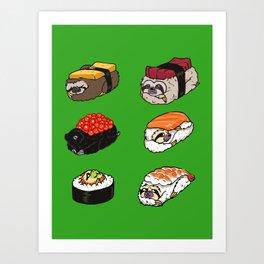Sushi Sloth Art Print