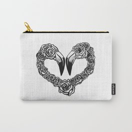 Flamingo Heart Carry-All Pouch