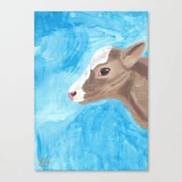 A Heifer Calf Named Keely Canvas Print