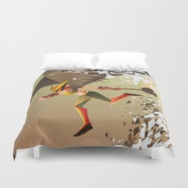 Flying and Hitting Stuff is Awesome Duvet Cover