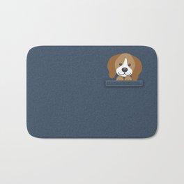Beagle in a Pocket Bath Mat
