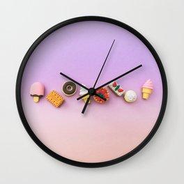 miniature sweets Wall Clock