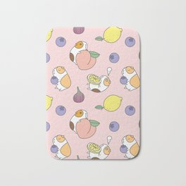 Guinea pig and fruits pattern Bath Mat