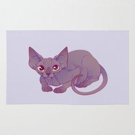 Happy Sphynx Cat Rug