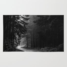 The Dark Path (Black and White) Rug