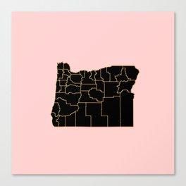 Oregon map Canvas Print