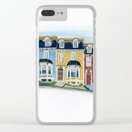 Jellybean Row - Newfoundland houses, buildings Clear iPhone Case