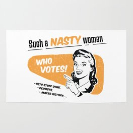 Nasty Women Vote Rug